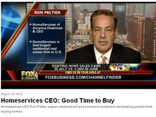 Homeservices CEO Ron Peltier on FOX News Business: Good Time to Buy